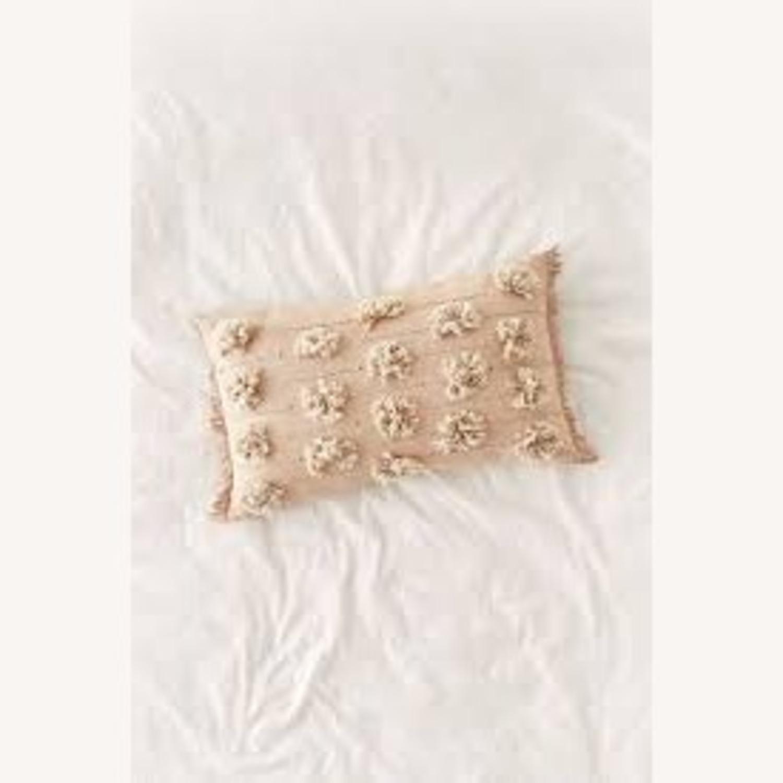 Rose Tufted Lumbar Pillow