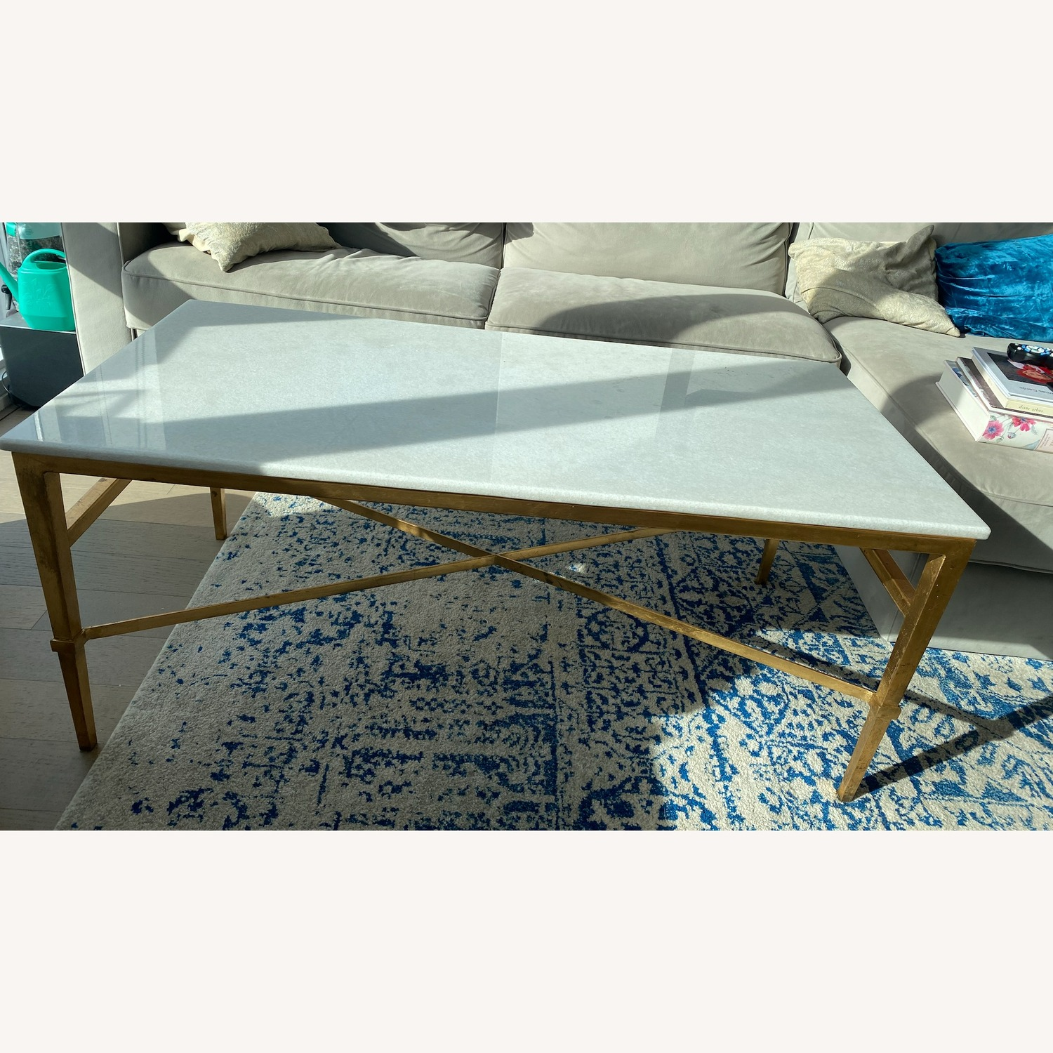 Safavieh Couture Gold & Marble Acker Coffee Table - image-5