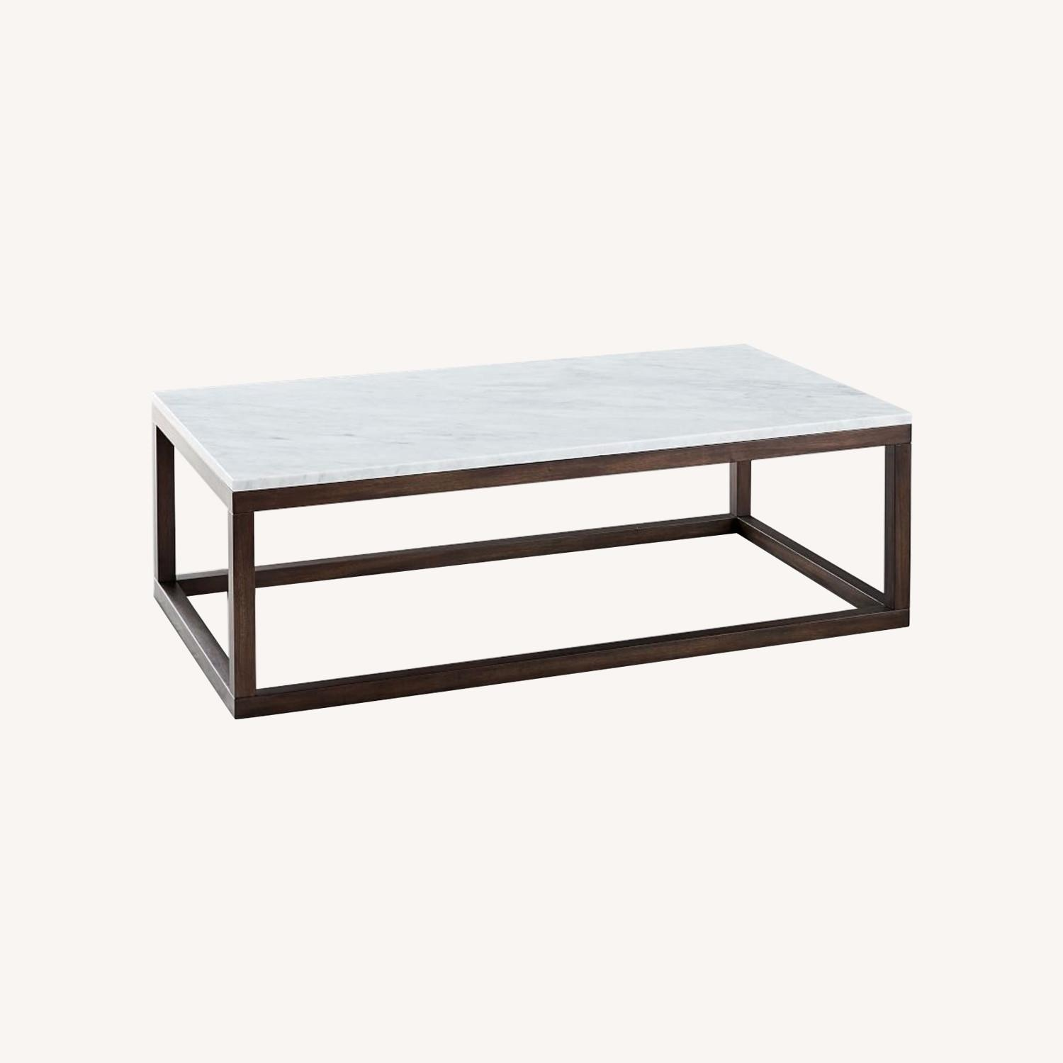 West Elm wood frame coffee table - image-0