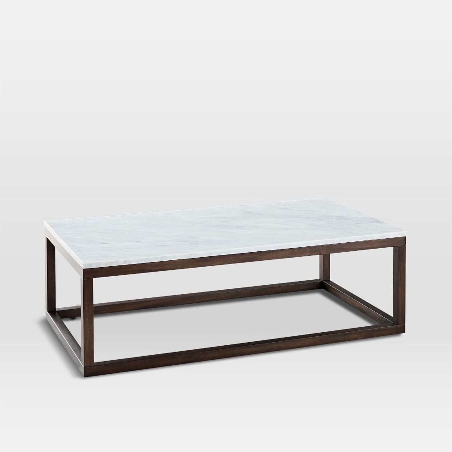 West Elm wood frame coffee table