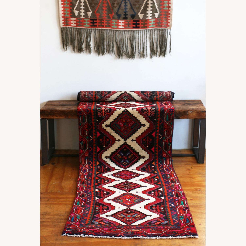 Colorful Persian Wool Runner Rug - image-1