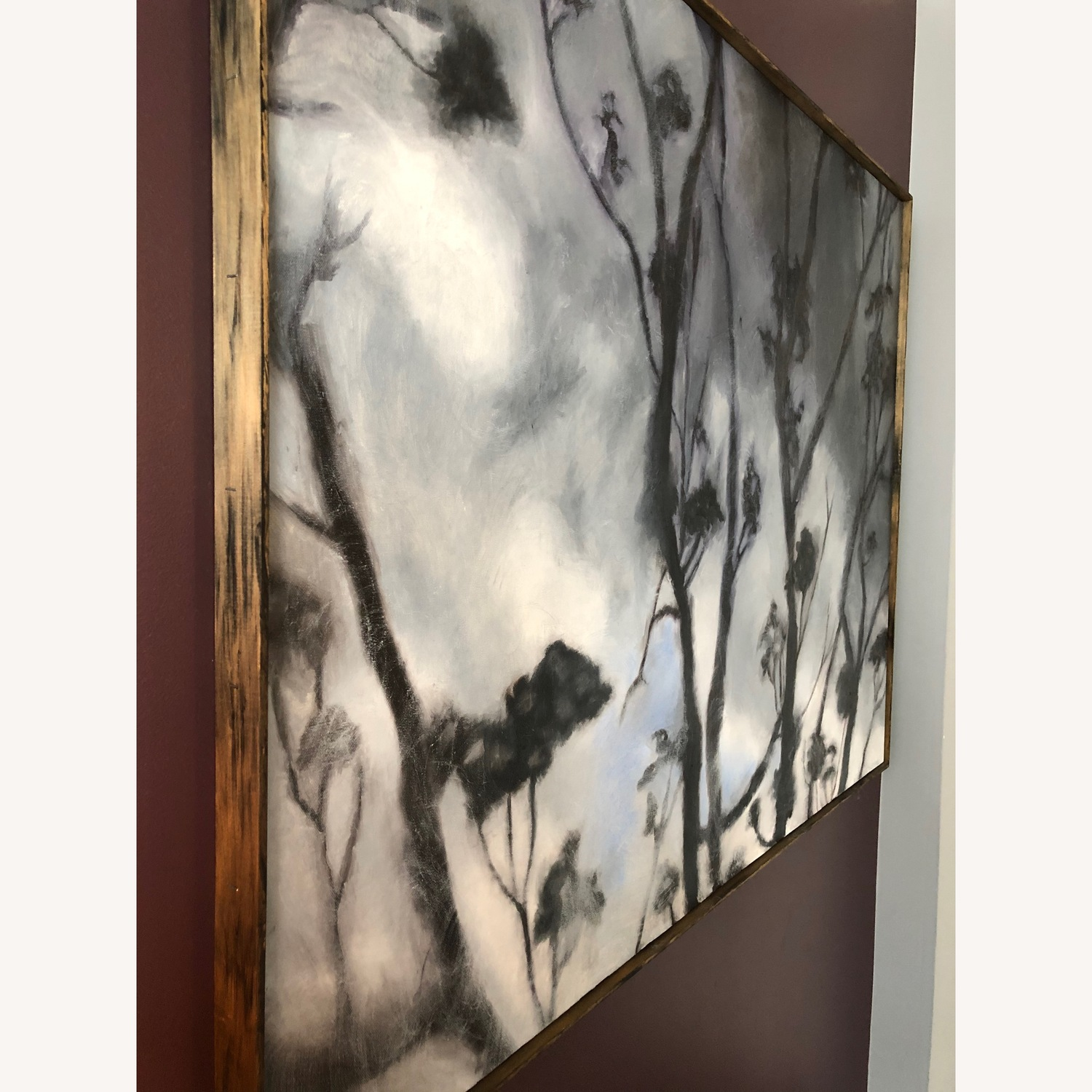 Nature with Clouds Canvas Print in Wood Frame