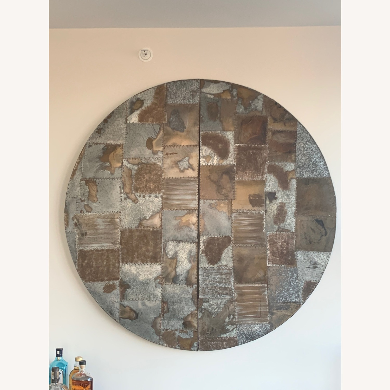 Pottery Barn Galvanized Metal Patchwork Art