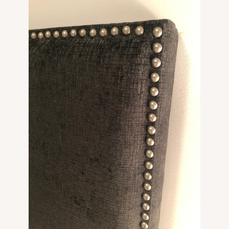 Charcoal Nail-Head Fabric Headboard - image-3