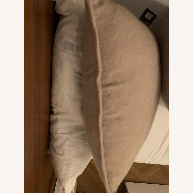 Restoration Hardware Cashmere Camel Pillows (2) w/ inserts