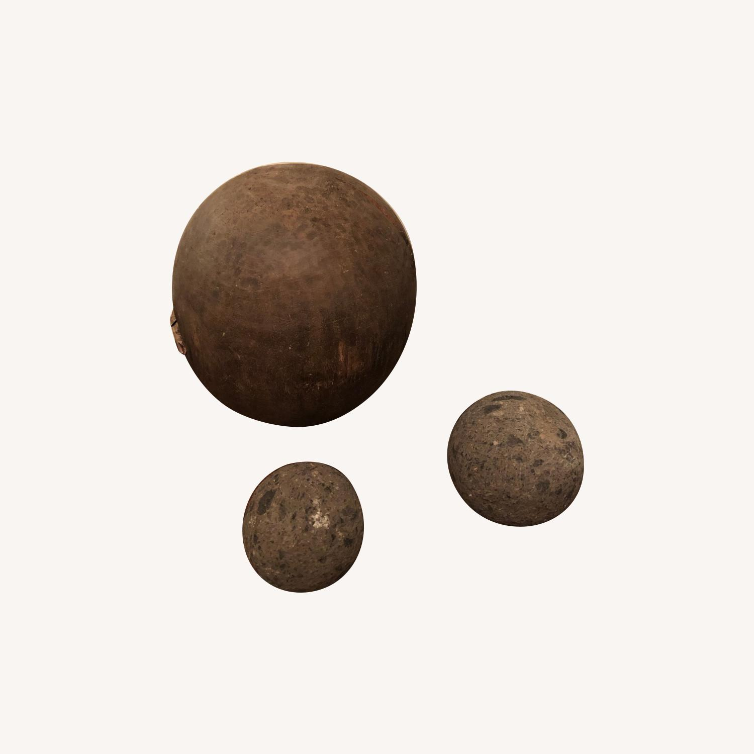 Ornamental Stone and Wooden Balls