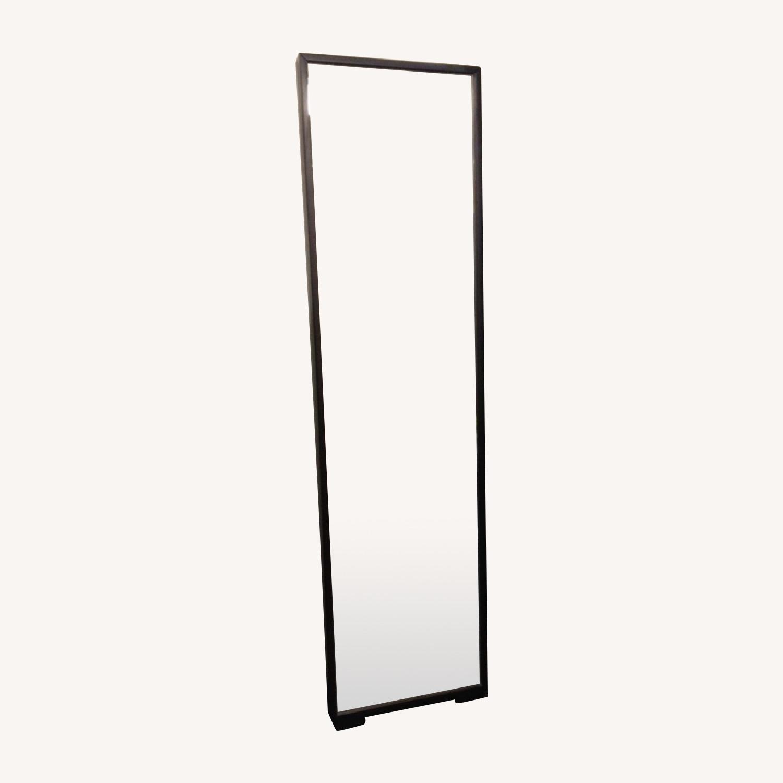 Floor Mirror w/Fully Encased Solid Back - image-0