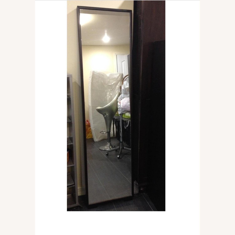 Floor Mirror w/Fully Encased Solid Back - image-1
