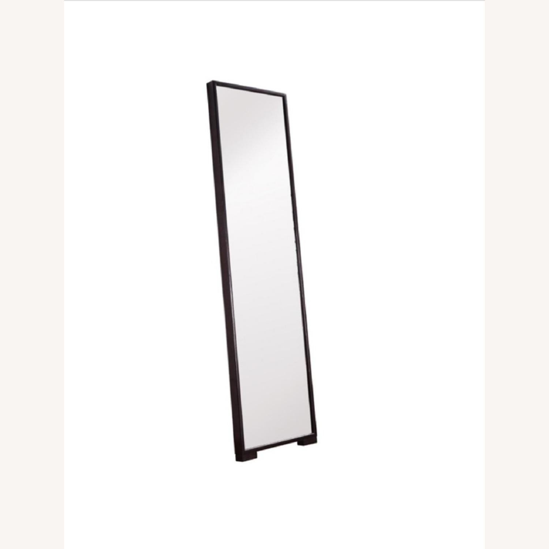 Floor Mirror w/Fully Encased Solid Back