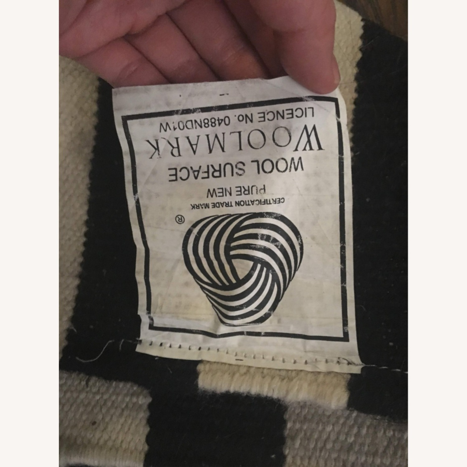 Black and White Striped rug - image-3