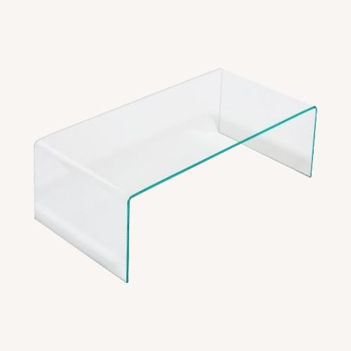 Used Fresco Tempered Glass Coffee Table for sale on AptDeco
