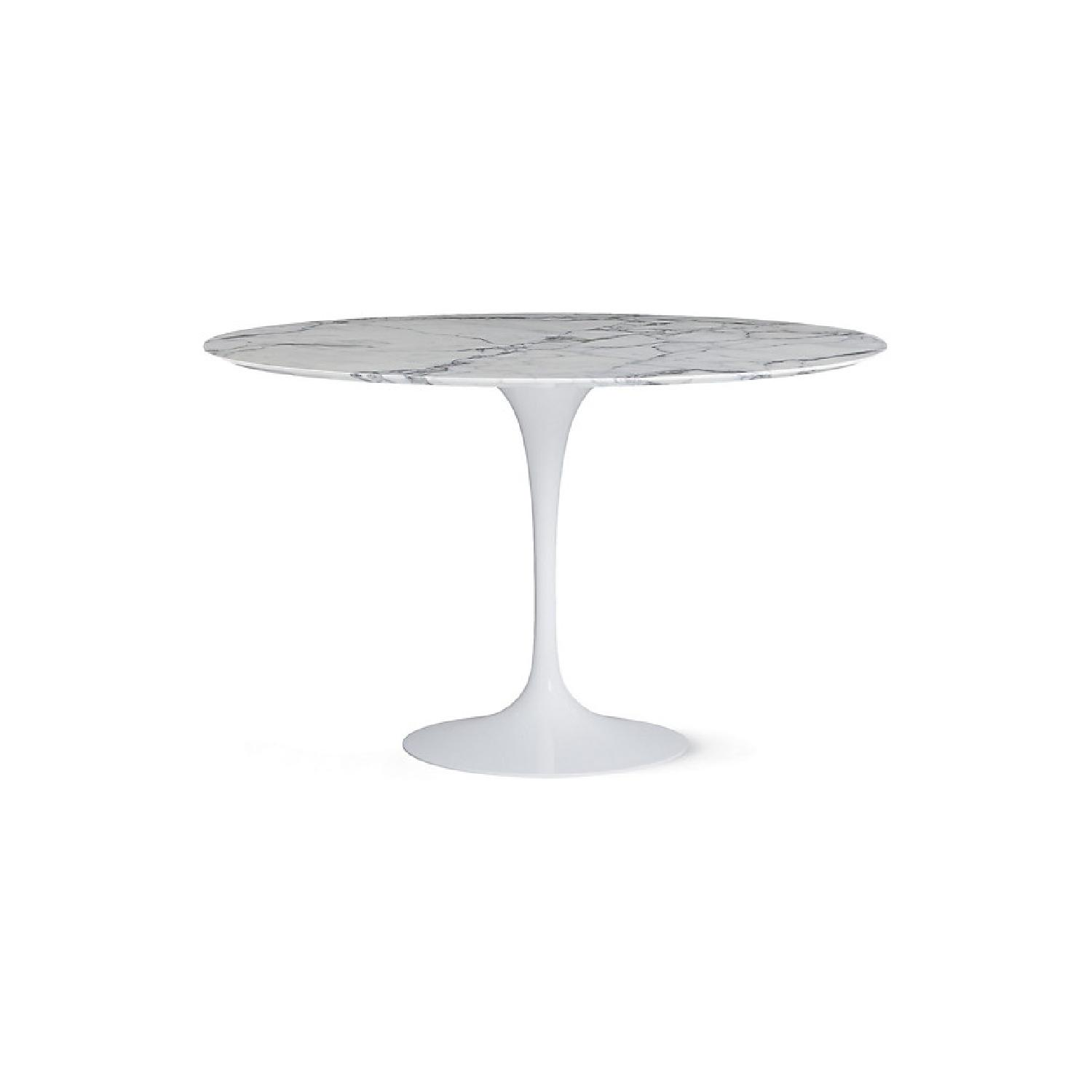 White Marble - Saarinen Round Dining Table - image-0