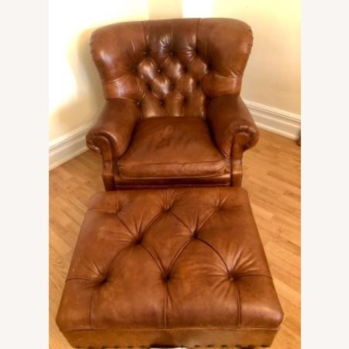 Used Ralph Lauren Writers Chair and Ottoman for sale on AptDeco
