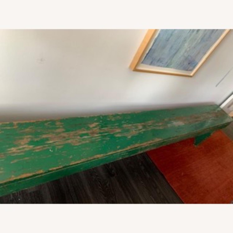 Beautiful green patina antique bench