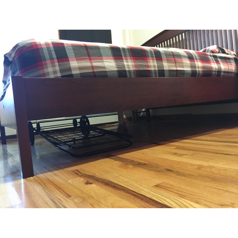 Queen Bed with Wooden Headboard - image-1