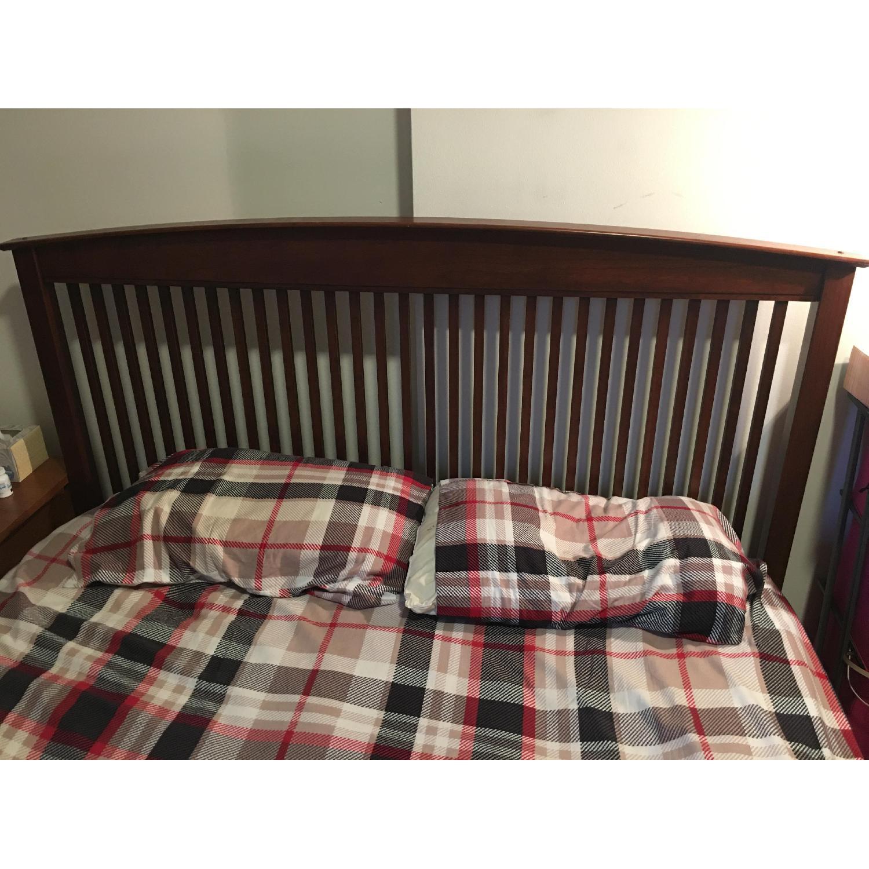 Queen Bed with Wooden Headboard - image-2