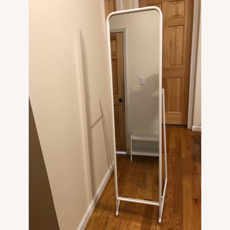 IKEA KNAPPER Floor mirror, white