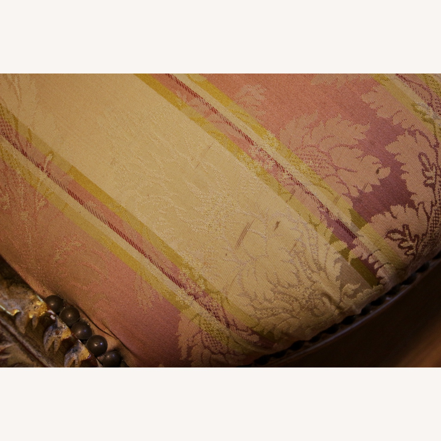 Rose & Gold Neoclassical French-style Vintage Settee - image-6