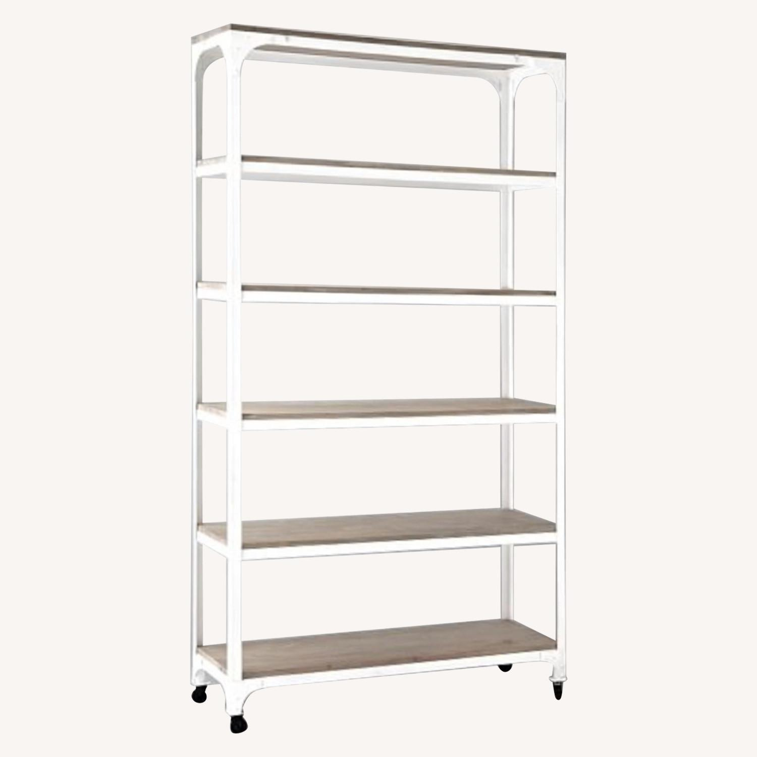 Whitewashed Wood and Metal Shelving Unit - Two Available - image-1