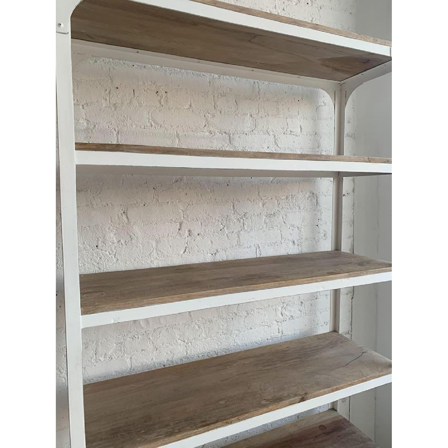 Whitewashed Wood and Metal Shelving Unit - Two Available - image-2