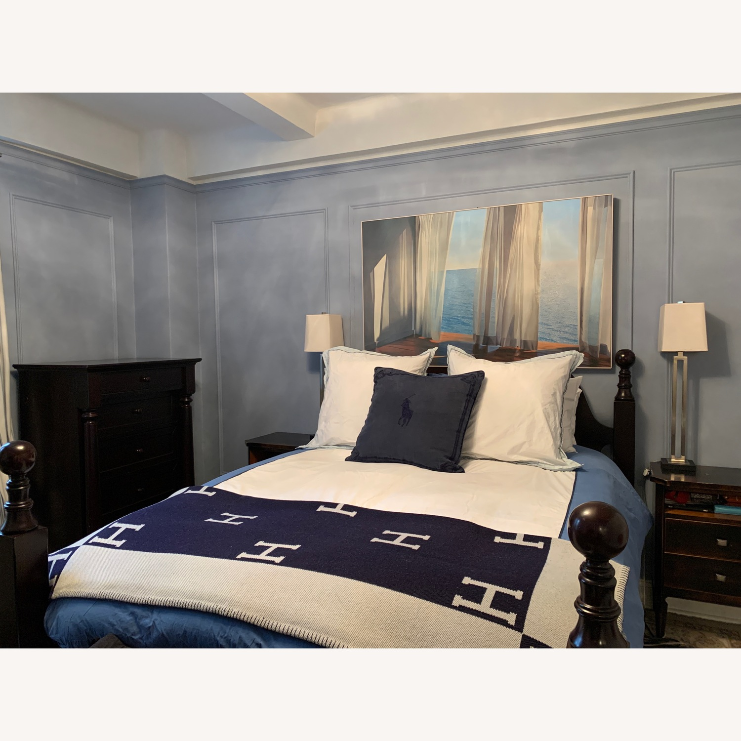 Pottery Barn Queen Hudson Sleigh Bed - image-2