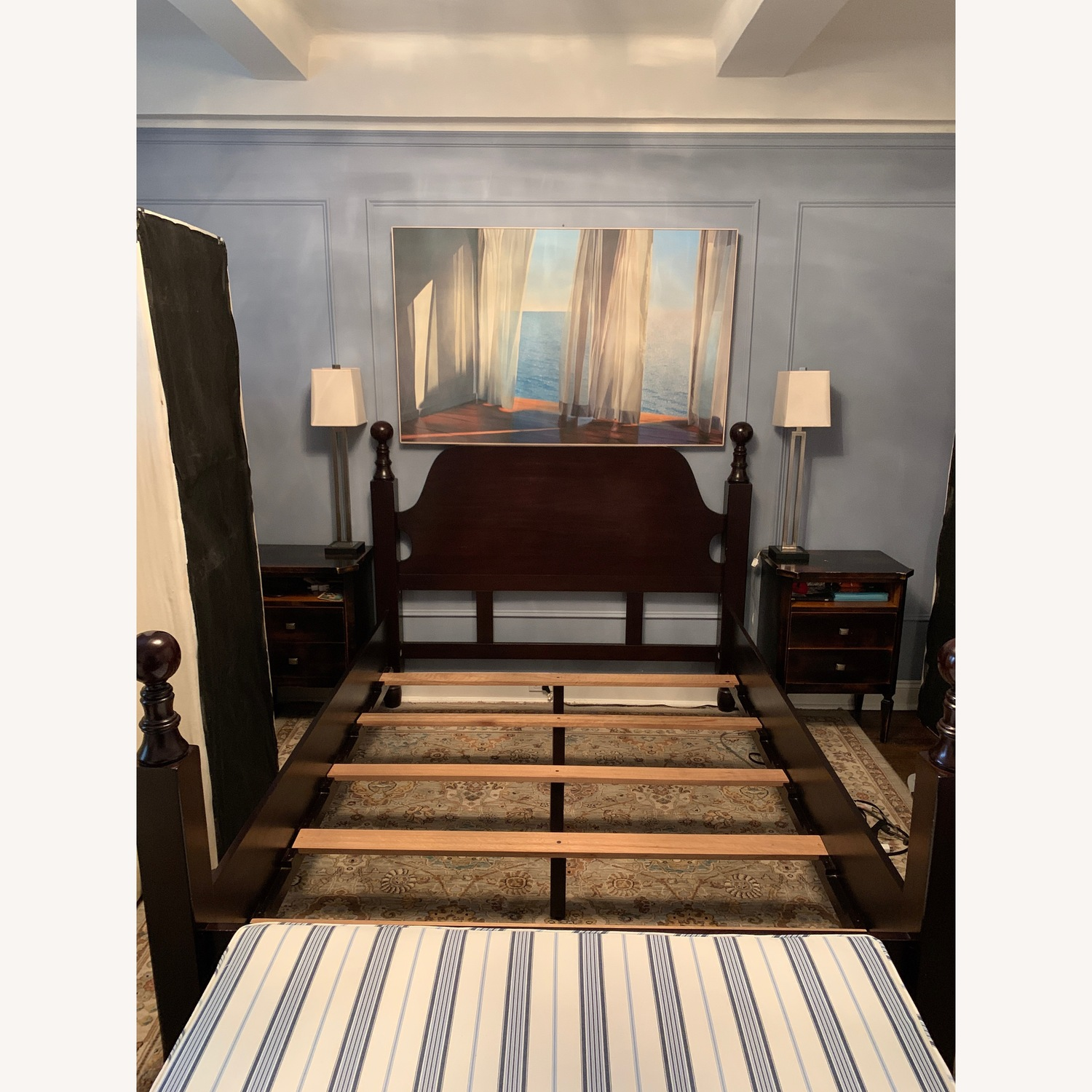 Pottery Barn Queen Hudson Sleigh Bed - image-0