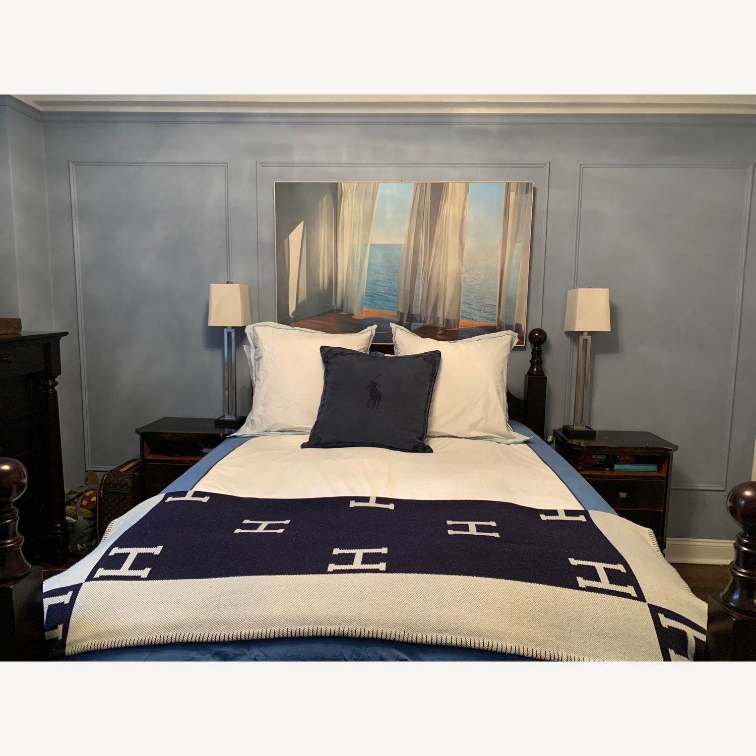 Pottery Barn Queen Hudson Sleigh Bed - image-1