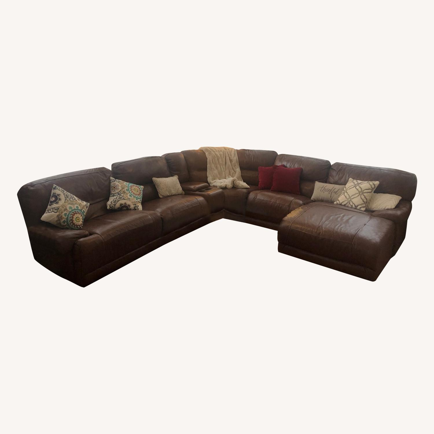 Bob's Large and Beautiful Leather Sectional