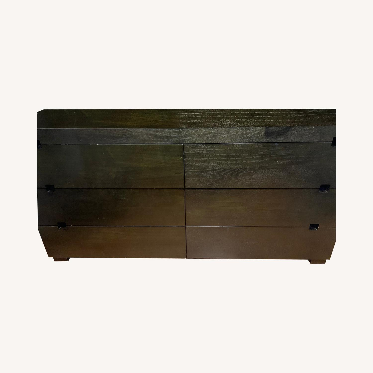 West Elm Dark Brown 6-Drawer Dresser - image-0