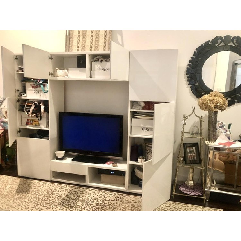 Ikea Glossy Media Wall Storage Unit - image-0