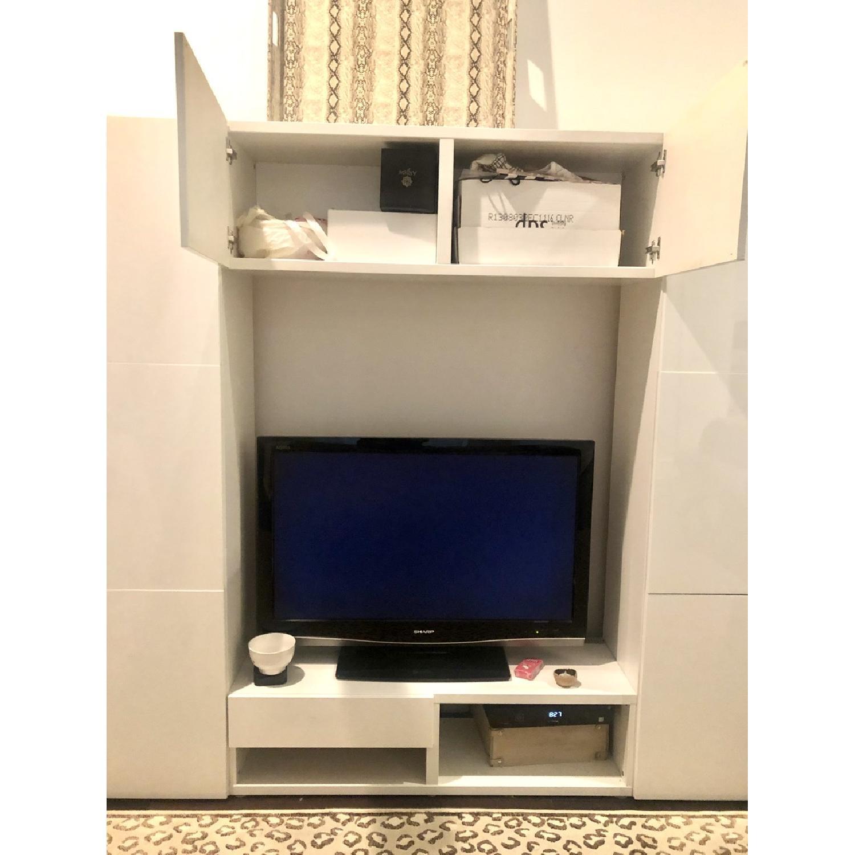 Ikea Glossy Media Wall Storage Unit - image-5