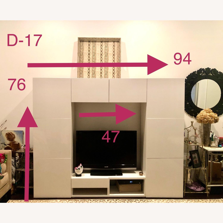 Ikea Glossy Media Wall Storage Unit - image-1