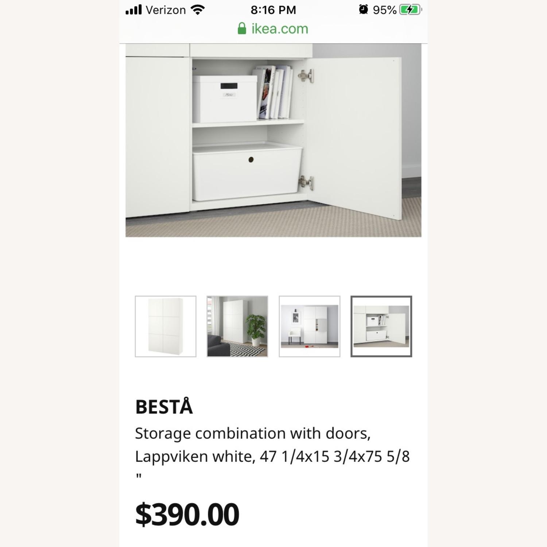 Ikea Glossy Media Wall Storage Unit - image-2