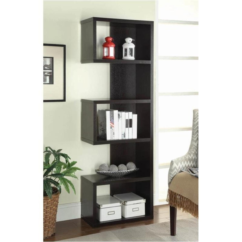 Cappuccino Bookcase w/ box and open Shelves