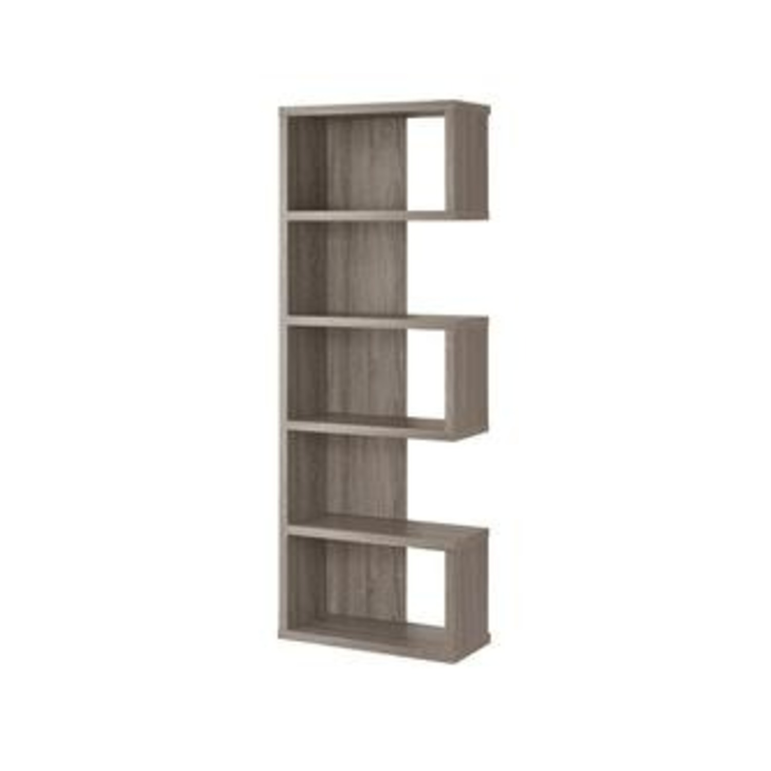 Weathered Grey Bookcase w/ box and open Shelves