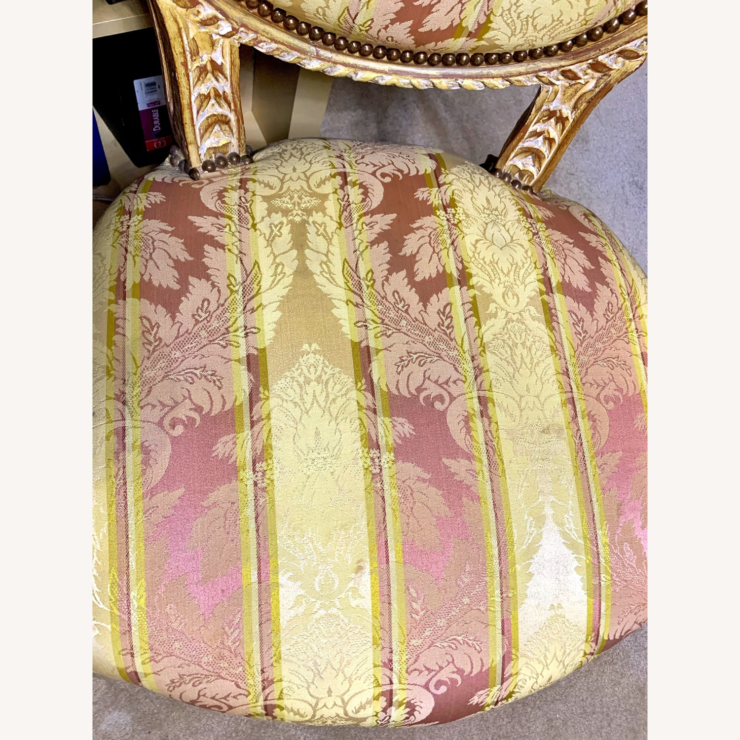 Rose & Gold Neoclassical French-style Vintage Armchairs
