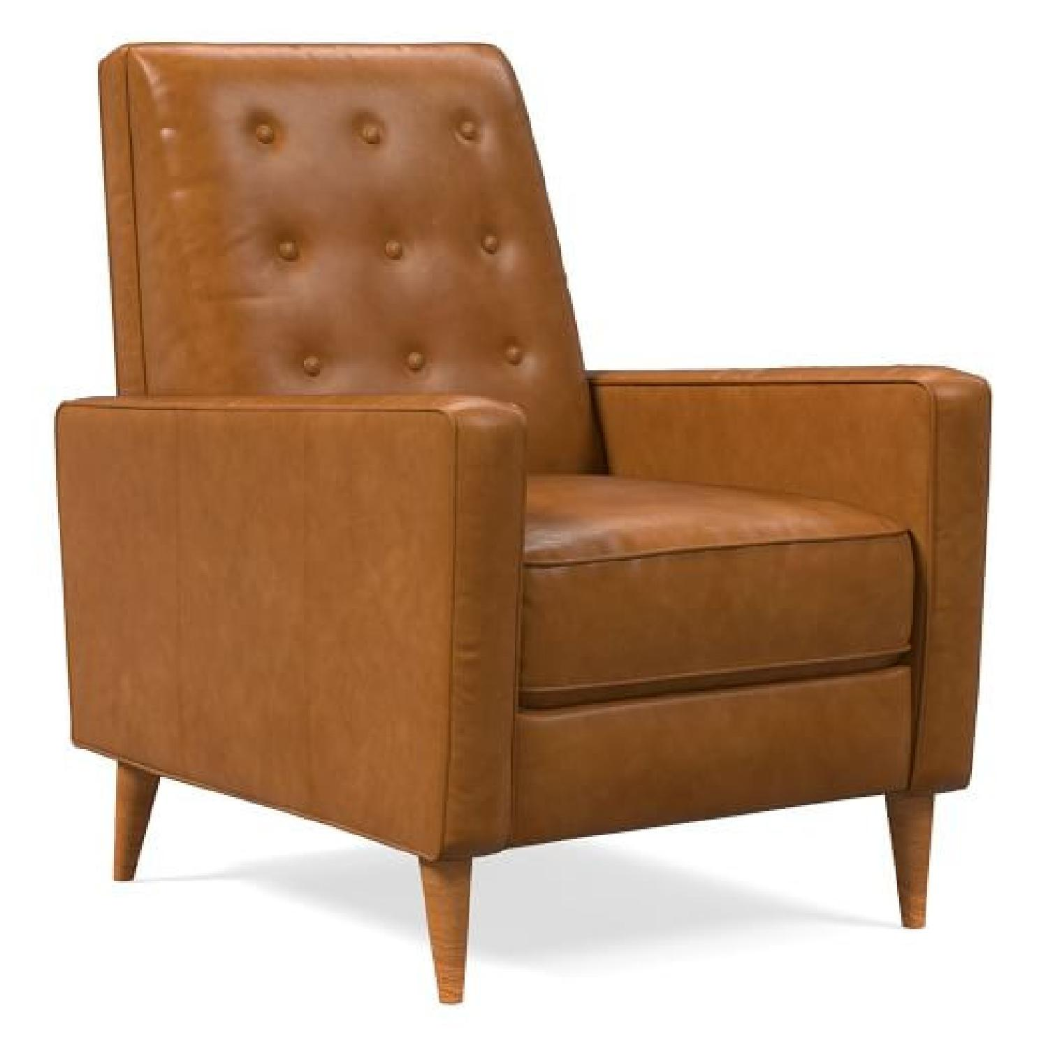 West Elm Rhys Mid-Century Leather Recliner - image-0
