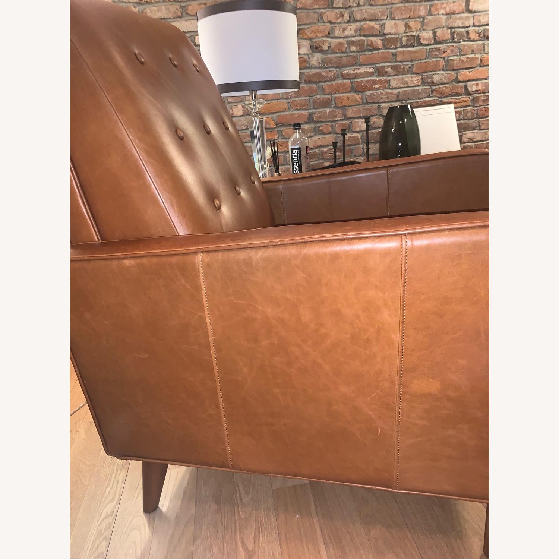 West Elm Rhys Mid-Century Leather Recliner