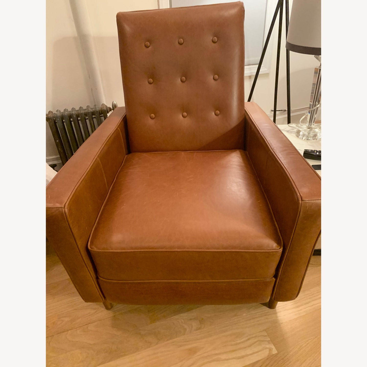 West Elm Rhys Mid-Century Leather Recliner - image-1