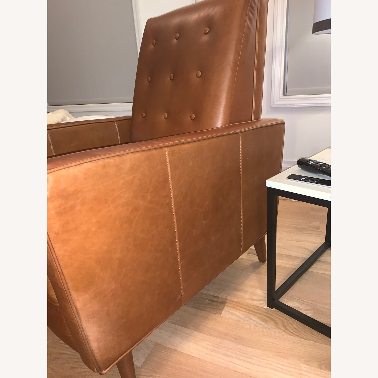 West Elm Rhys Mid-Century Leather Recliner - image-2