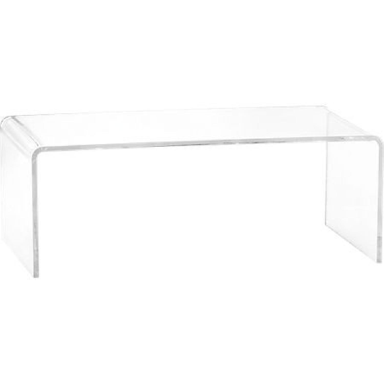 CB2 Peekaboo Acrylic Coffee Table