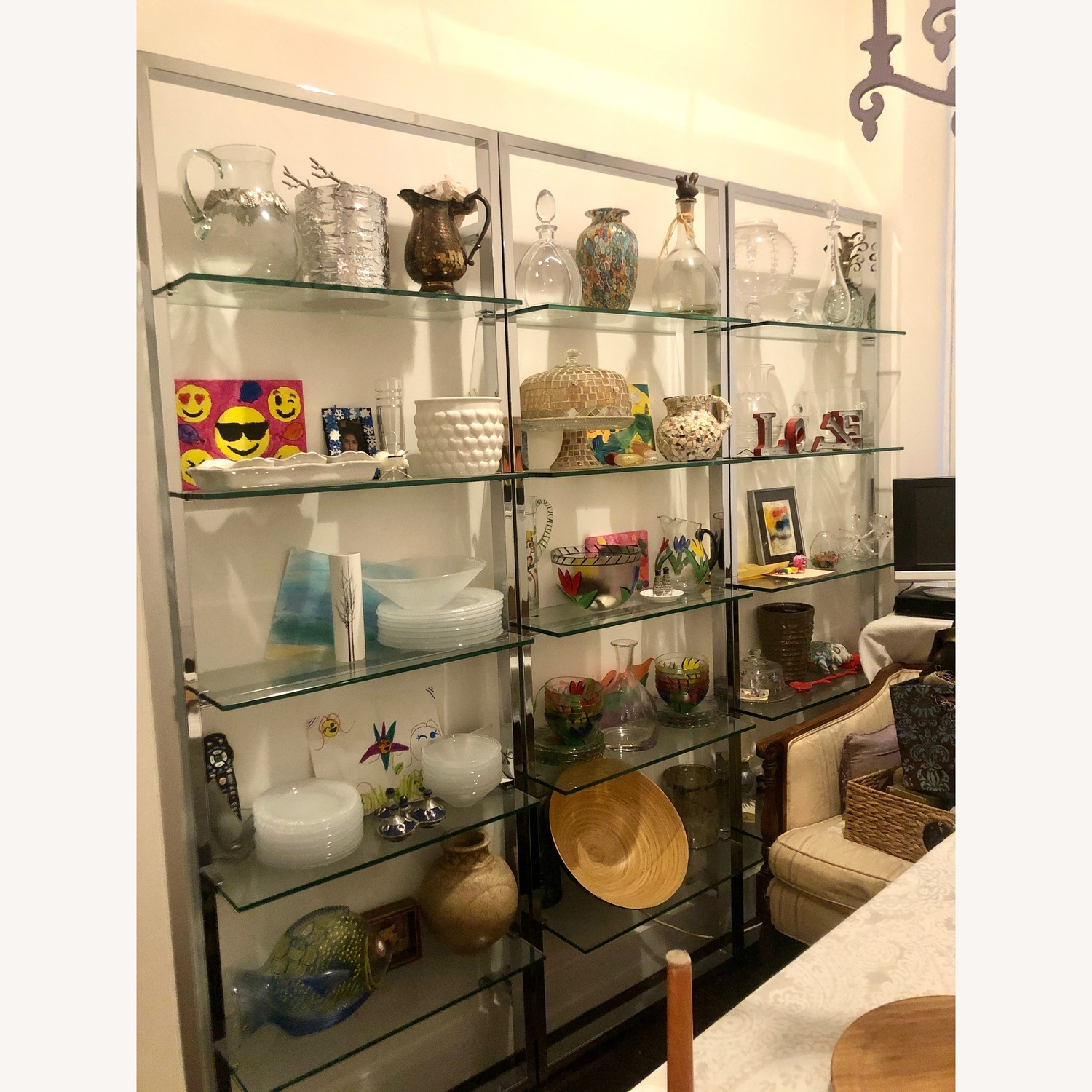 CB2 Tesso Chrome Bookcase