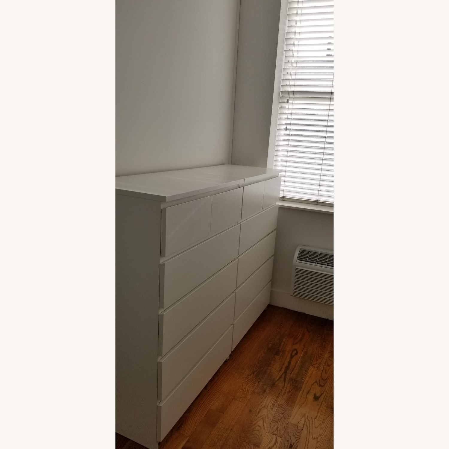 2 White Ikea 6-Drawer Chests - image-2