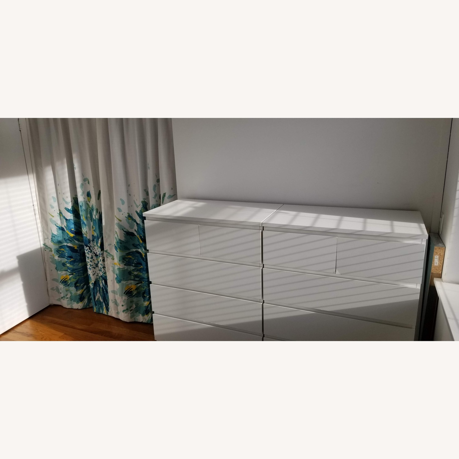 2 White Ikea 6-Drawer Chests - image-1