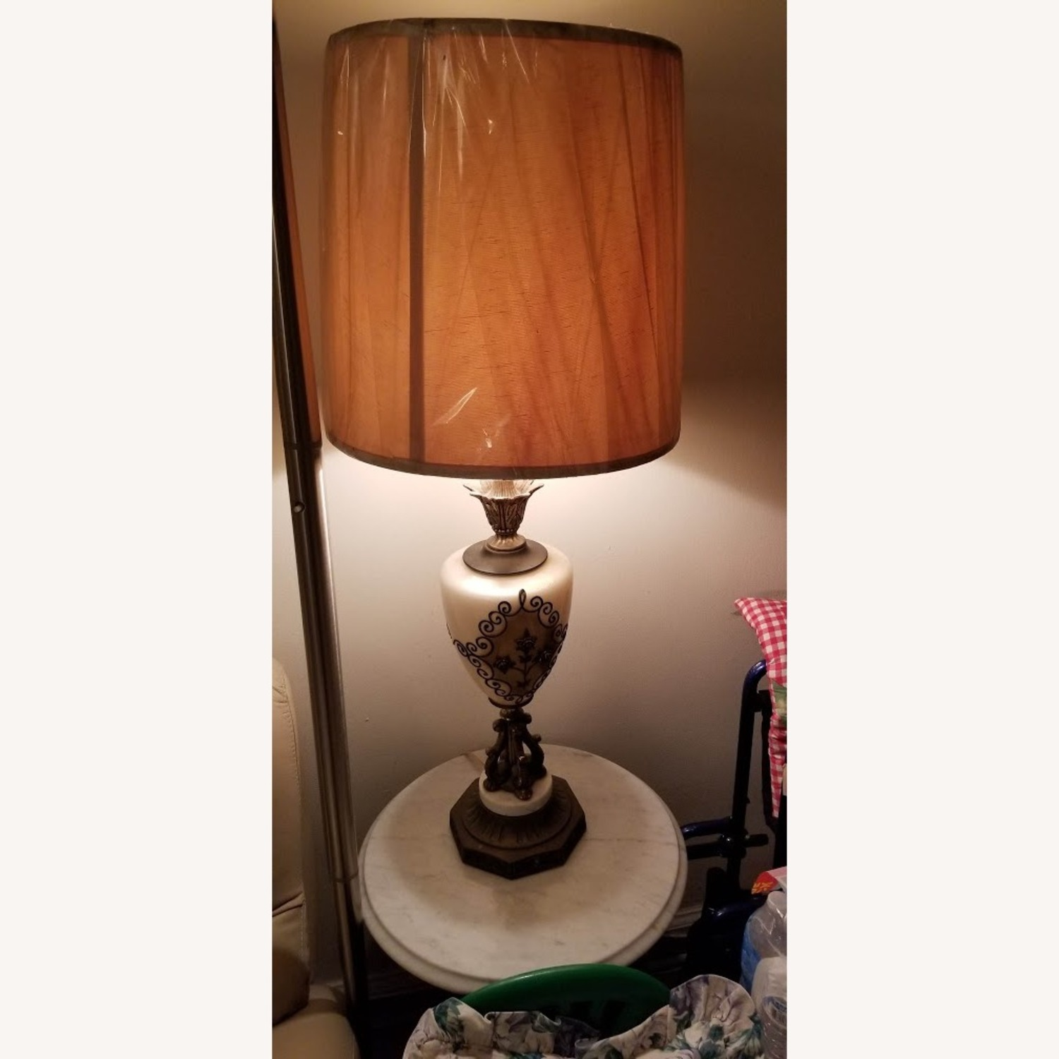 Vintage Living Room table and lamp set