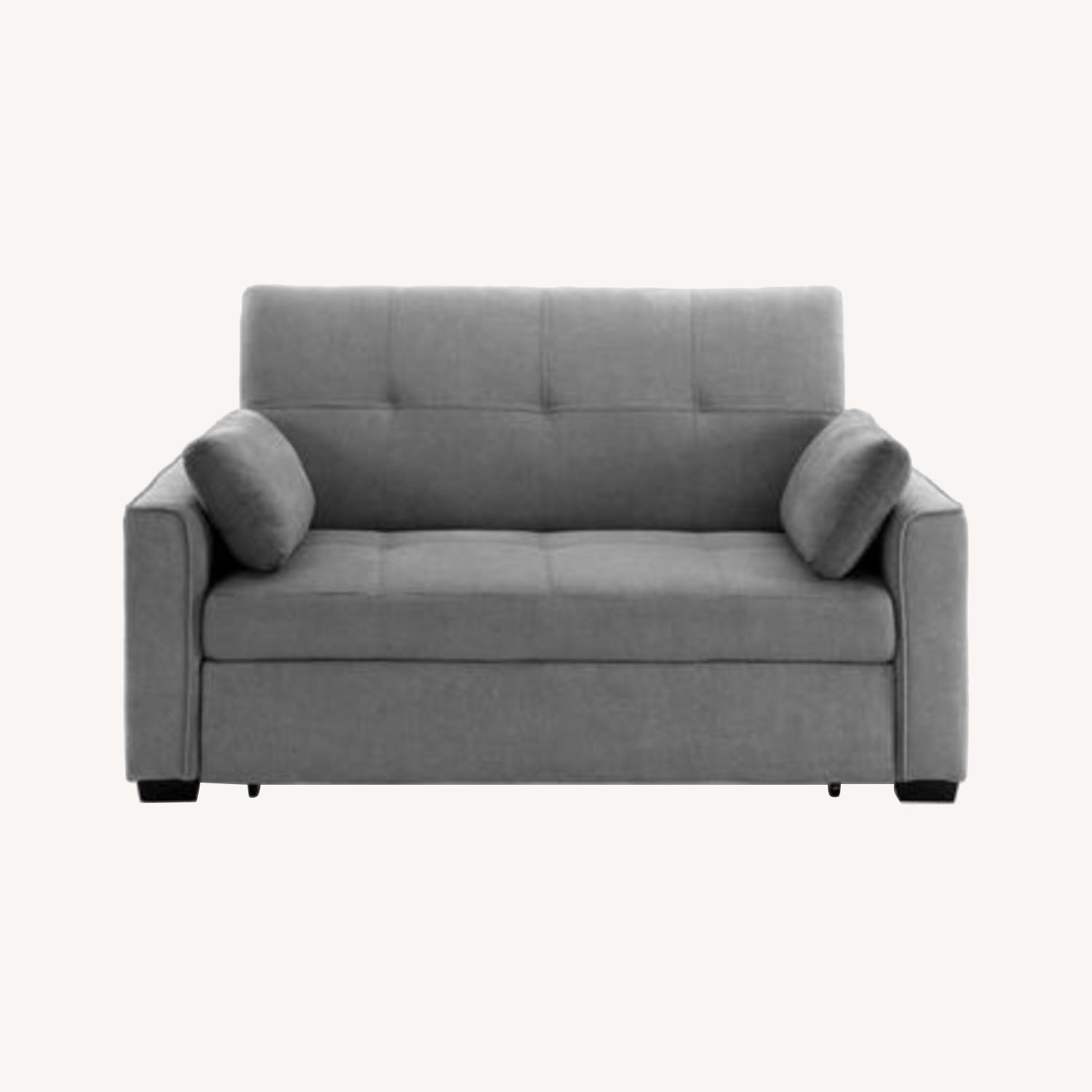 Light Grey Super Comfortable Sleeper Sofa - image-0