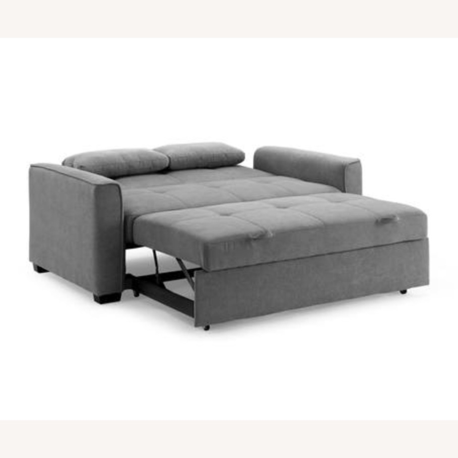 Light Grey Super Comfortable Sleeper Sofa - image-3