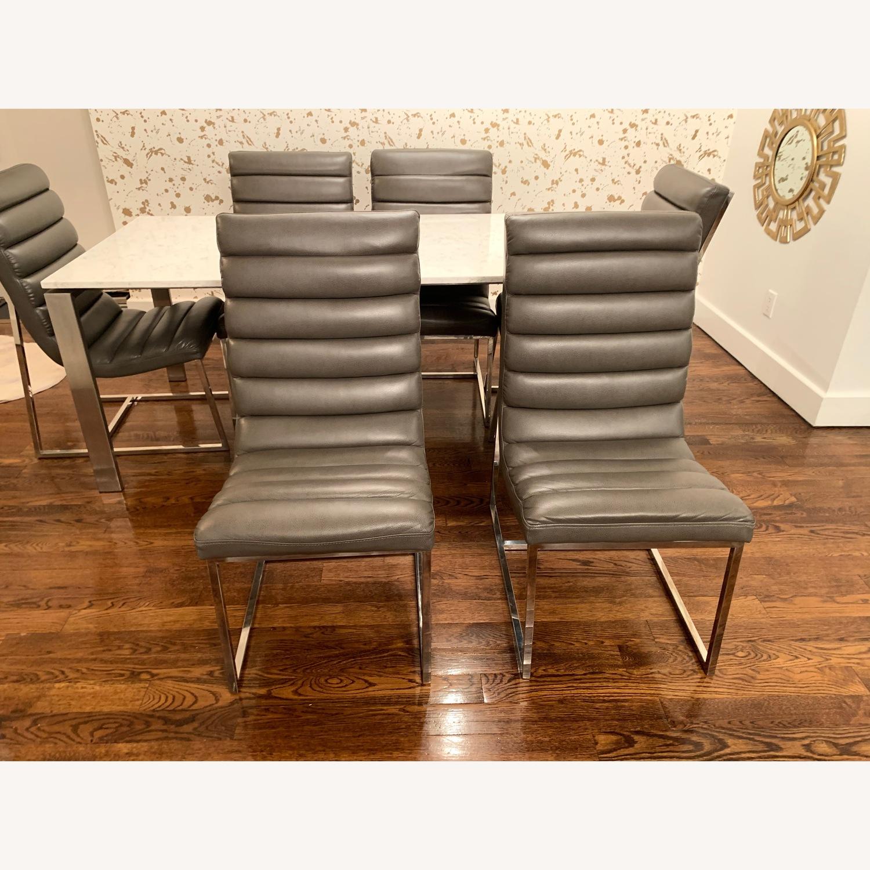 Diamond Sofa Bardot Leather Dining Chairs - image-5