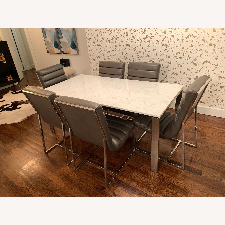 Diamond Sofa Bardot Leather Dining Chairs - image-3