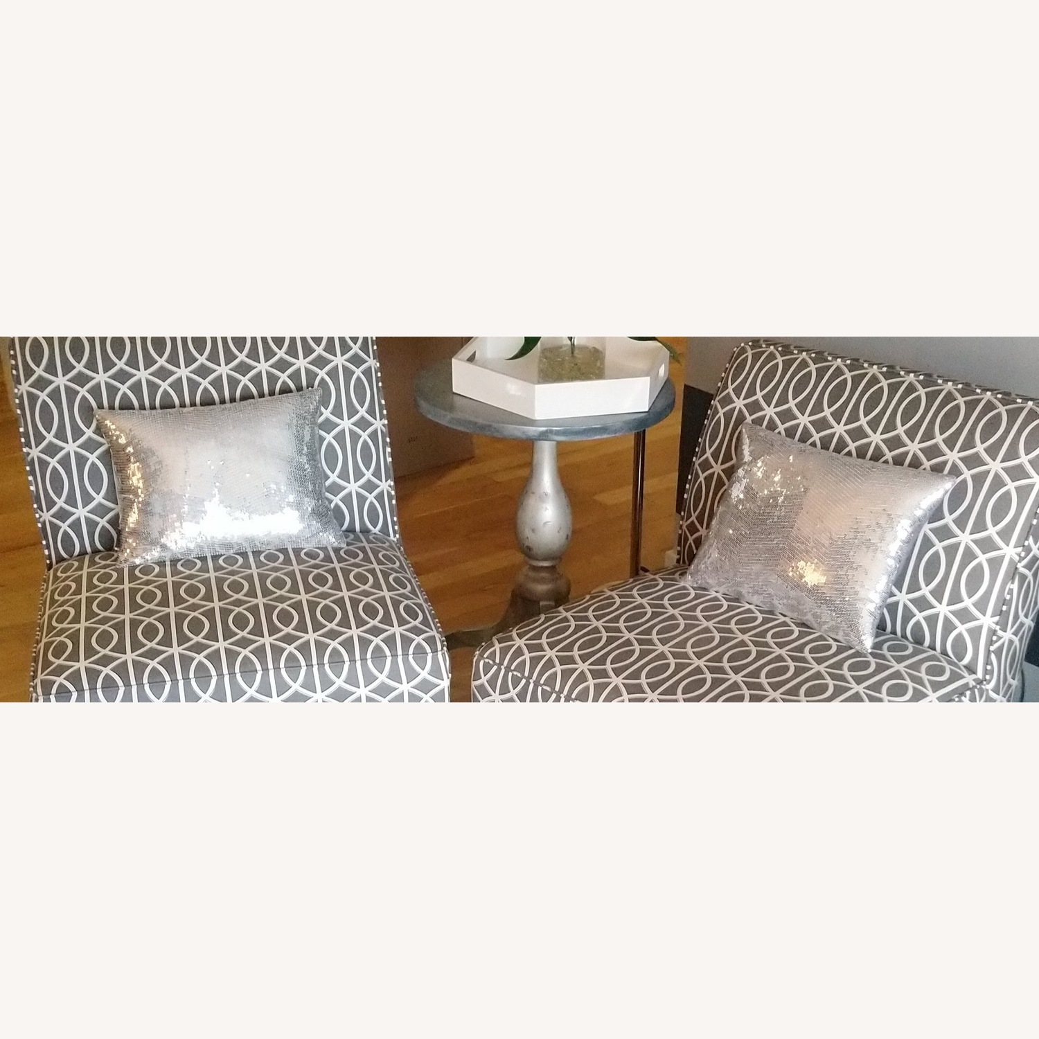 Gorgeous Silver Sequin Pillows